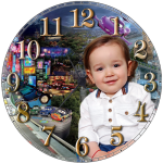Часовник кръгъл стенен - MDF (20 х 20 см)