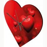 Стенен часовник със снимка  - сърце NDF 20х20 см.