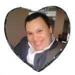 Камък със снимка сърце 15х15